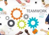 Concetto di unità di lavoro di squadra collaborazione