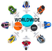 Koncept celosvětové mezinárodní spojení