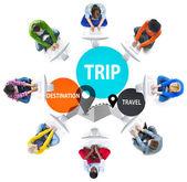 Výlet cestování dovolená cesta koncept