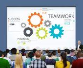 Skupina lidí a týmová práce