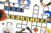 Fotografie Skupina podnikatelů a řešení