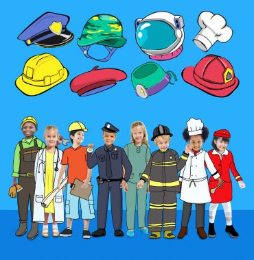 beautiful Children and Dream Jobs Occupations