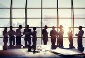 üzleti emberek csoportja