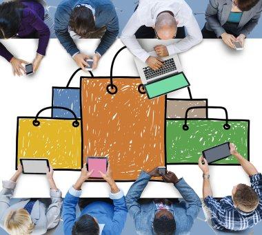 Shopping Bag Sale Shopaholic Concept