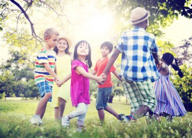 Children Friendship, Happiness Concept