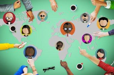 Global Community World Concept