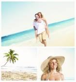 Fotografie Koncepce datování líbánky letní Beach