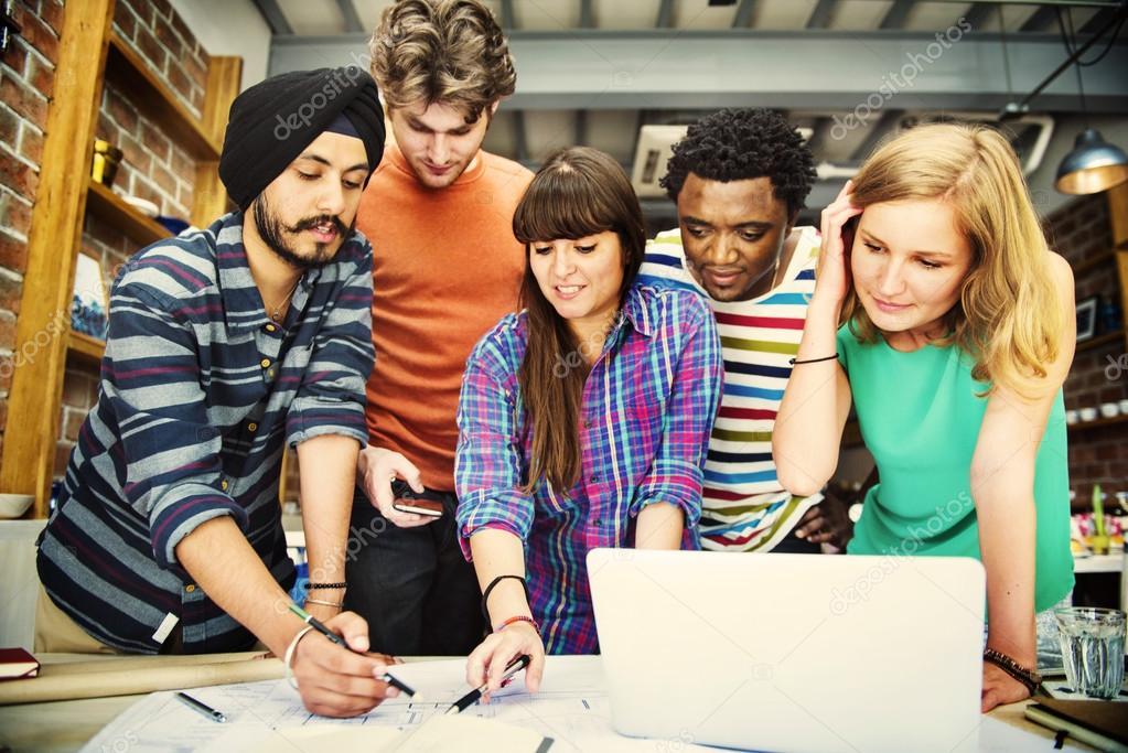 Group Of Diverse People Working Together Stock Photo Rawpixel