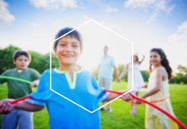 Hexagon Frame Holiday