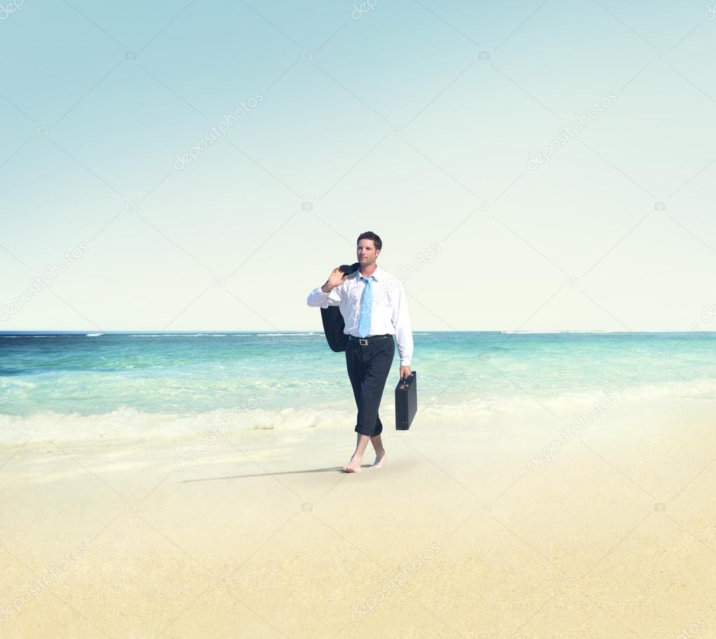 Businessman Travel Vacations Concept