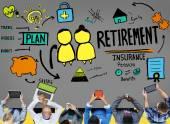 Fotografie Retirement Insurance Pension Concept