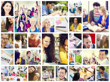 Collage with Diverse Students