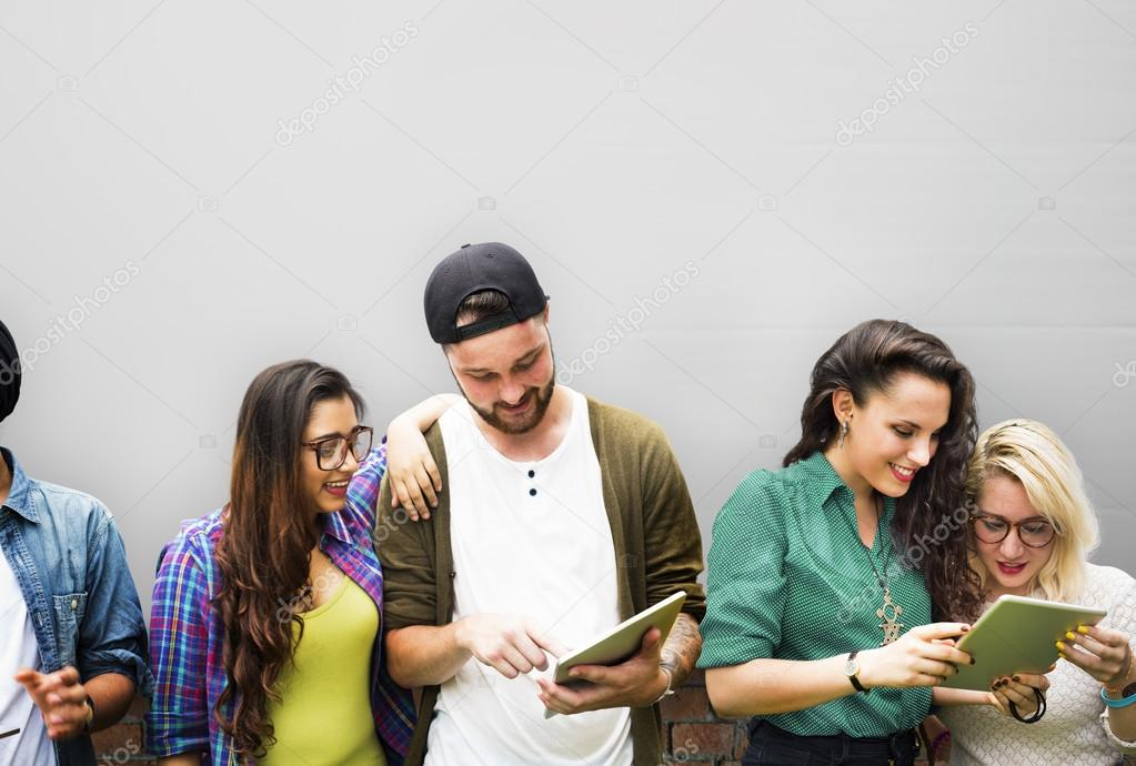 People Talking, Communication with Friends Concept