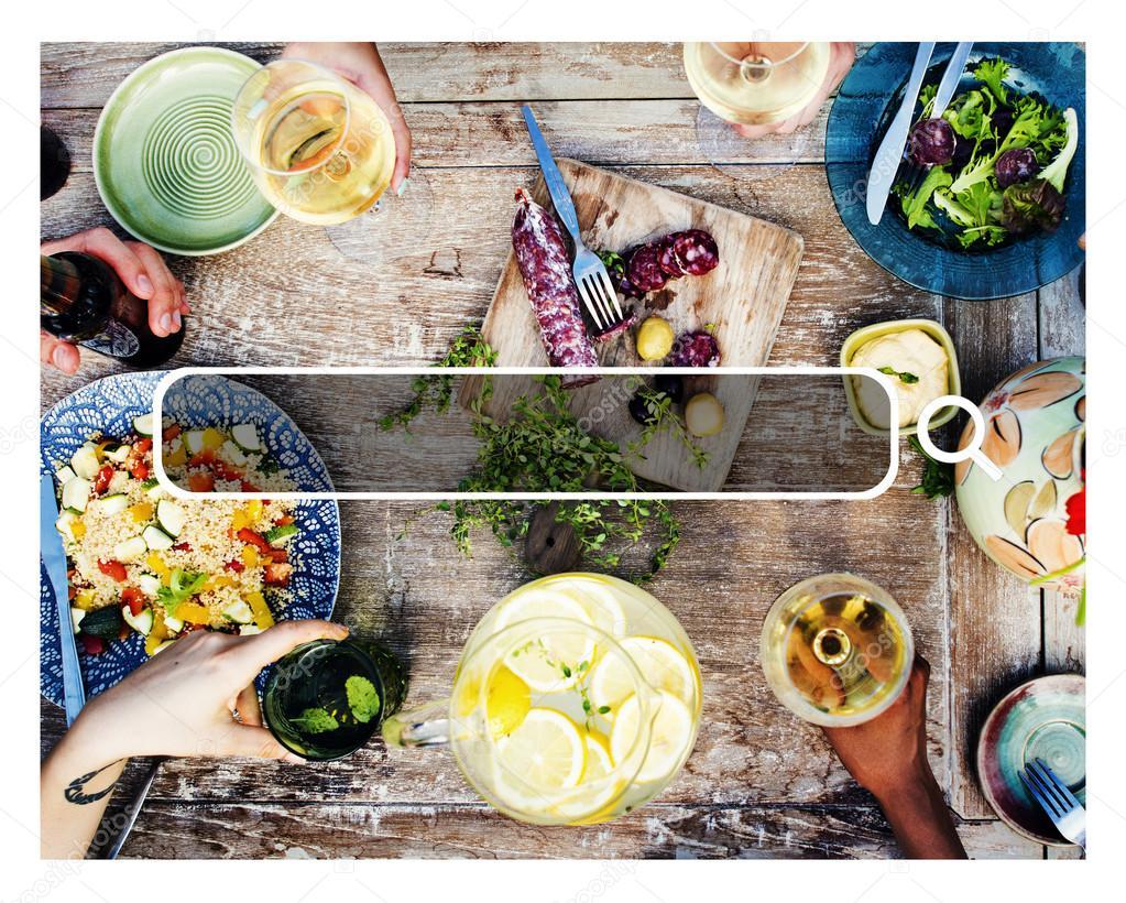 Summer Dinner at Beach Concept