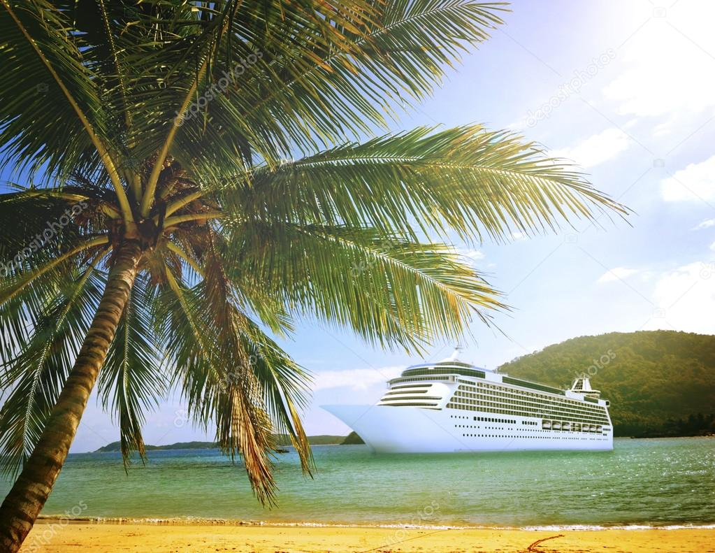 Cruise Ship near Beach