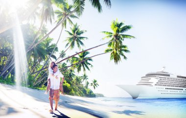 Couple at Beach, Holiday Concept