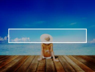 woman on beach Concept