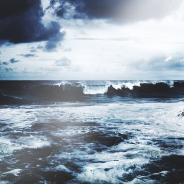 Storming Waves Seascape Concept