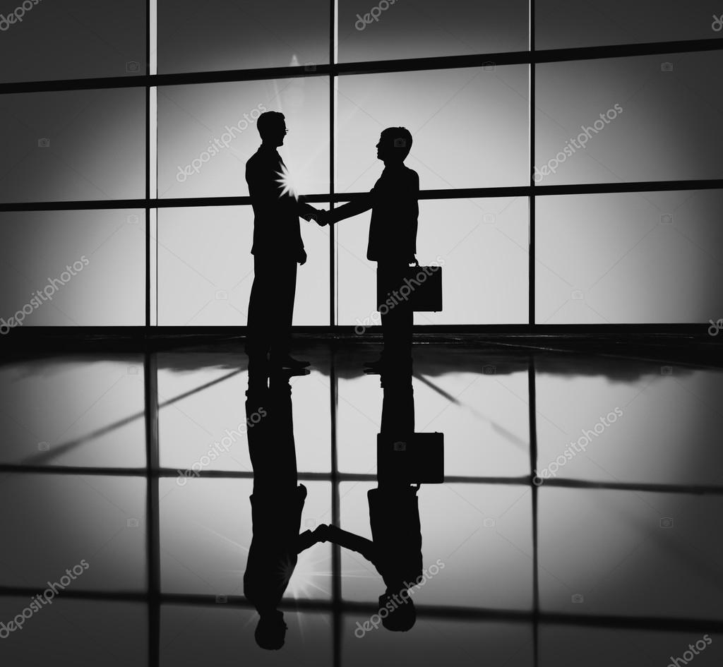 Unternehmer Handshake Vertrag Angebot Bestätigen Stockfoto