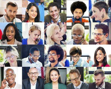 Diverse Faces of business people