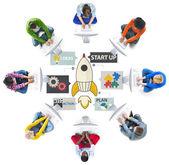 Skupina lidí a spuštění inovace koncepce