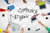 Fotografie Computer-Netzwerk-Konzept
