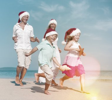 happy Family on the beach Concept