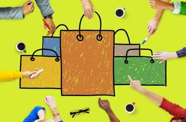 Shopping Bag Shopaholic Concept