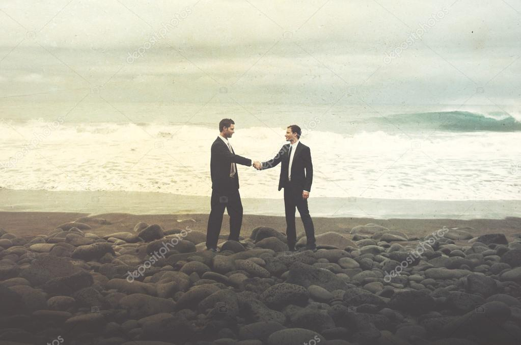 Businessmen Shaking Hands Concept