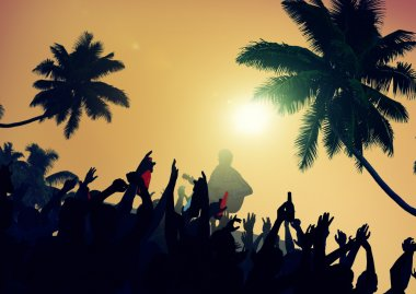 Summer Music Festival on Beach Concept