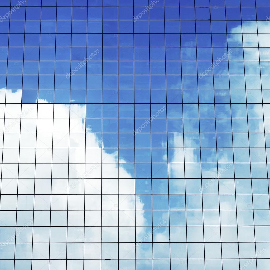 Sky Reflecting on Modern Office