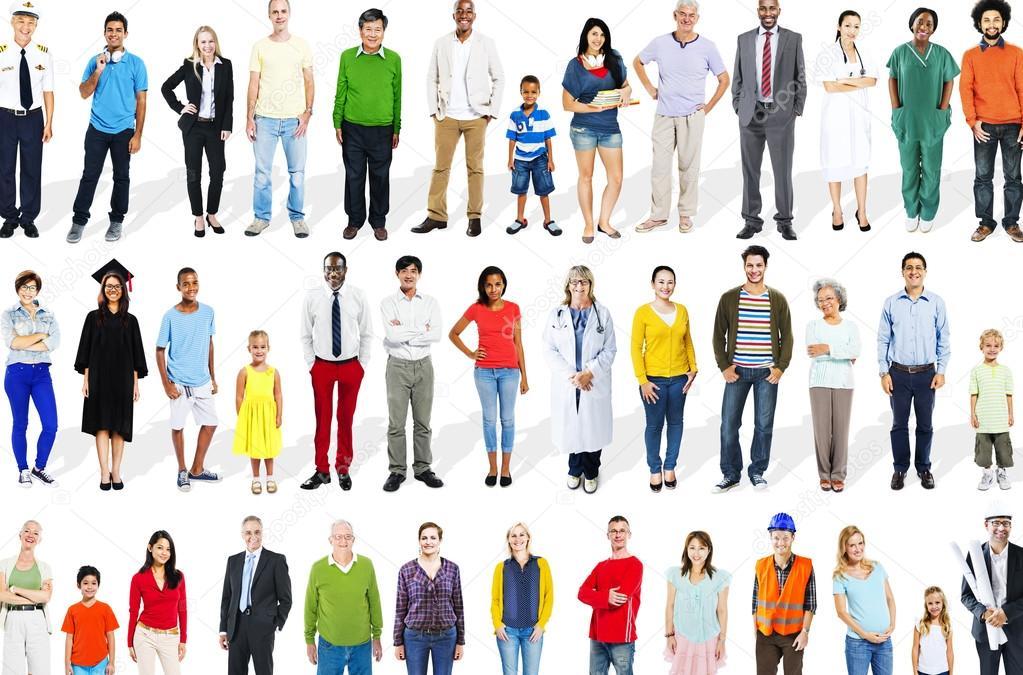 Картинки разных людей для описания белых маленьких