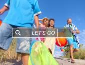 Fényképek a beach boldog család