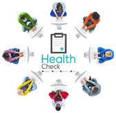Zdravotní kontrola diagnostiky koncept