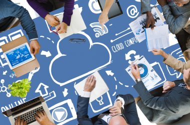 Business People with Cloud Computing Concept