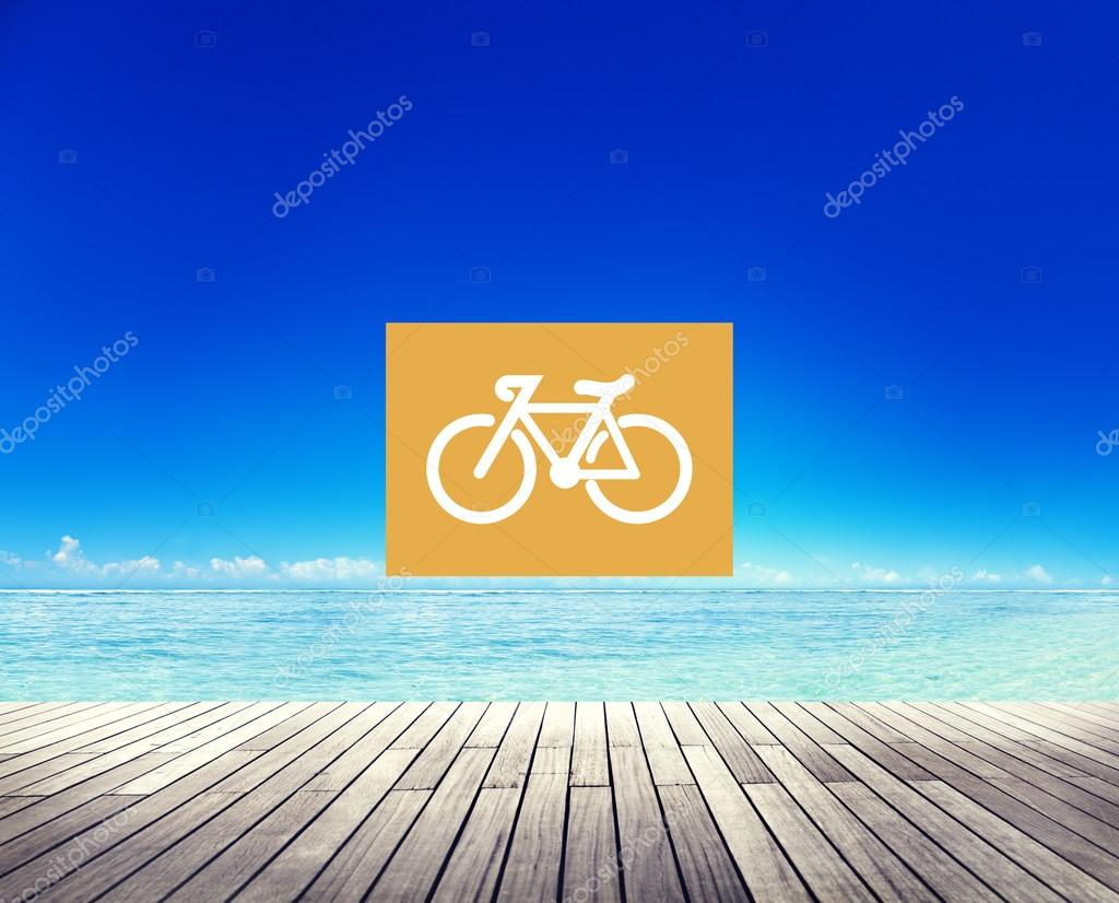 Bicycle Riding Icon Concept