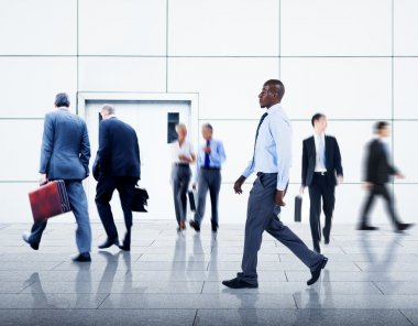 Business People traveling in Airport