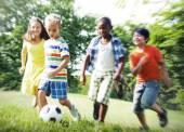 Fényképek Gyermekek boldogság és összetartozás koncepció