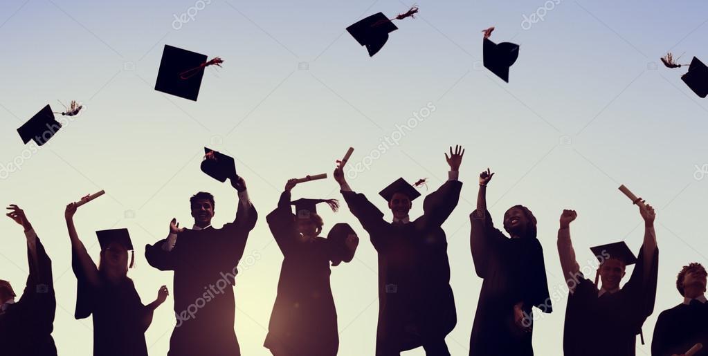 Students Celebration Graduation, Education Concept