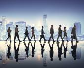 Fotografie Business People Walking at Rush Hour