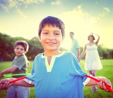Family Bonding, Healthy Lifestyles Concept