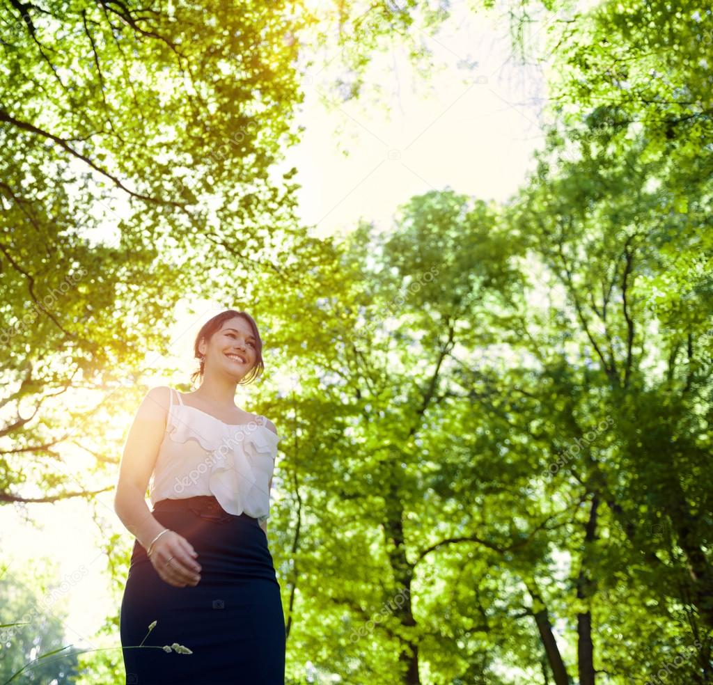 Green Business, woman outdoor Concept