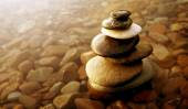 Fotografie Zen bilance horniny