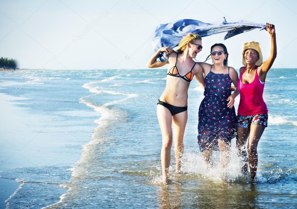 Femininity Girls on Beach