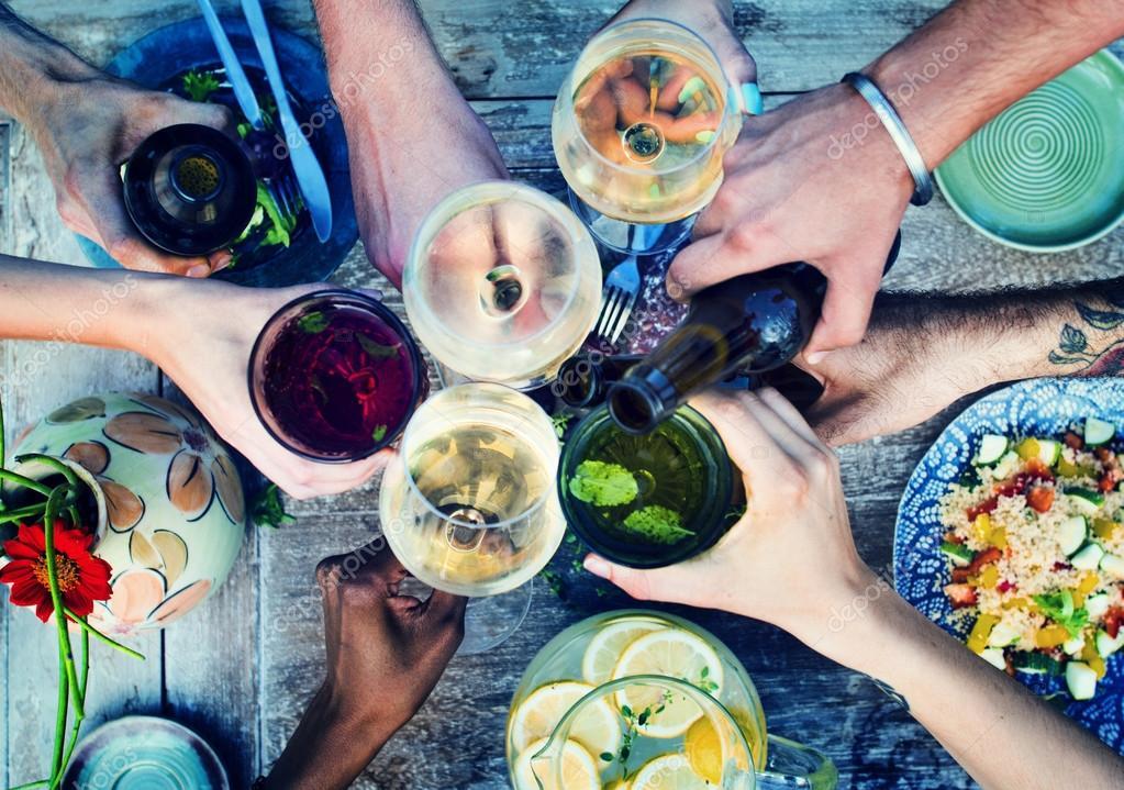 Lebensmittel, Getränke-Party-Konzept — Stockfoto © Rawpixel #88168810