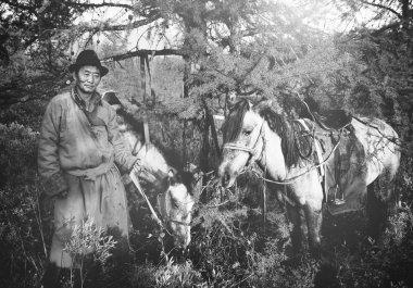 Mongolian Tsataan with Horses