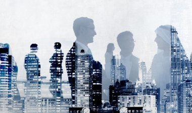 Business People and city skyscrapers