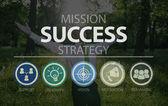 Úspěch strategie ikony