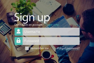 Sign Up, Join Registration Account Concept