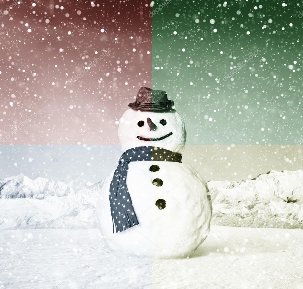 Lustige Weihnachts-Schneemann — Stockfoto © Rawpixel #90185748